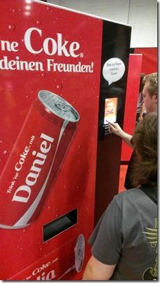 Toller Cola-Automat mit Namensgenerator