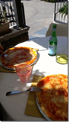 Pizza im Ristorante Arcimboldo