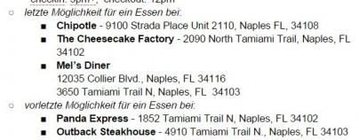 USA Florida 2014 FastFoodPlan