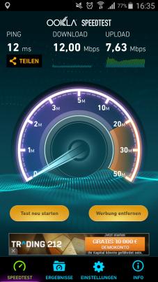 WiFi Test Flughafen Hamburg