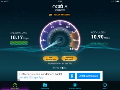 WiFi Test ibis München City Süd
